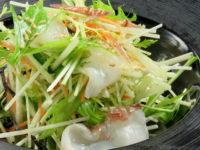 タコと水菜と茗荷のサラダ